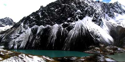 Перу горное озеро в Андах