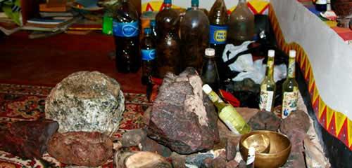Церемония очищения метеоритами