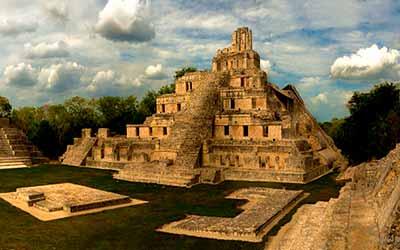 Пирамиды Эцна. Мексика