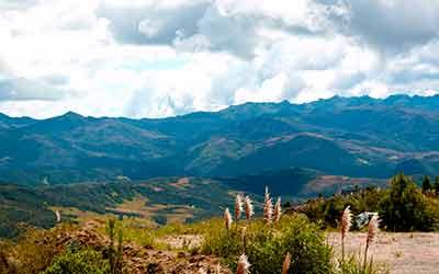 Долина среди гор Эквадор
