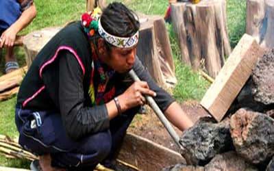 Подготовка Темаскаля в Перу
